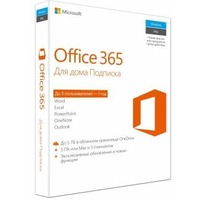 Офисное приложение Microsoft Office 365 Home Rus Subscr 1YR No Skype BOX (6GQ-00738). Интернет-магазин Vseinet.ru Пенза