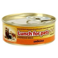 Консервы для собак Lunch for pets индейка, рубленое мясо, ж/б 100 г. Интернет-магазин Vseinet.ru Пенза