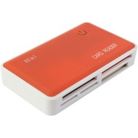 Картридер PC PET CR-211ROG USB 2.0 SDHC/CF/XD/MS/TF/M2 (24-in-1) Rubber Orange. Интернет-магазин Vseinet.ru Пенза