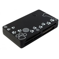 Картридер PC PET CR-215DBK USB 2.0 SDHC/CF/XD/MS/TF/M2 (24-in-1) Dog Black. Интернет-магазин Vseinet.ru Пенза