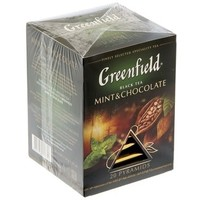 Чай Гринфилд пирамида Mint and Chocolate black tea 20п*1,8 гр.. Интернет-магазин Vseinet.ru Пенза