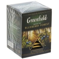 Чай черный Greenfield, Blueberry Forest, 20 пакетиков*1,8 г. Интернет-магазин Vseinet.ru Пенза