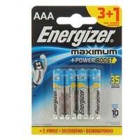 Батарейка алкалиновая Energizer Maximum ААА 3+1 шт. Интернет-магазин Vseinet.ru Пенза