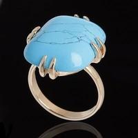 "Кольцо ""Аигба"", размер 17, цвет голубой в золоте. Интернет-магазин Vseinet.ru Пенза"