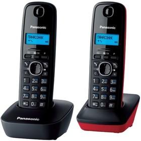 Радиотелефон Panasonic KX-TG1612RU3 / 2 трубки / чёрный