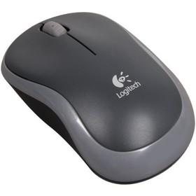 Мышь беспроводная Logitech M185, USB, серая
