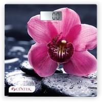 Весы напольные Centek CT-2421, серый с рисунком «орхидея». Интернет-магазин Vseinet.ru Пенза
