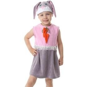 """Карнавальный костюм для девочки от 1,5-3-х лет """"Зайка розовая"""" сарафан, шапка"""