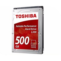 Жесткий диск HDD Toshiba L200 Slim HDWK105UZSVA, 500Гб, SATA 6Gb/s, 8Мб