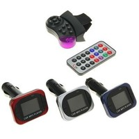 FM mp3 модулятор Luazon, USB/SD/MP3/WMA/AUX провод, пульт на руль, микс. Интернет-магазин Vseinet.ru Пенза