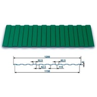 Профнастил окрашенный С-8 Зеленый мох 6005 (3,0 х 1.2 х 0.45) г.Пенза. Интернет-магазин Vseinet.ru Пенза