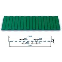 Профнастил окрашенный С-8 Зеленый мох 6005 (2,5 х 1.2 х 0.45) г.Пенза. Интернет-магазин Vseinet.ru Пенза