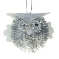 Фото Мягкая подвеска совенок блеск серебро 5*7 см. Интернет-магазин Vseinet.ru Пенза