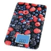 Весы кухонные BBK KS107G, черный с рисунком «ягоды». Интернет-магазин Vseinet.ru Пенза