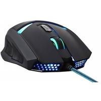 Мышь проводная Oklick MW-1301 ,USB ,черная с голубым. Интернет-магазин Vseinet.ru Пенза