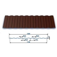 Профнастил окрашенный С-8 Шоколад 8017 (1,5 х 1.2 х 0.45) г.Пенза. Интернет-магазин Vseinet.ru Пенза