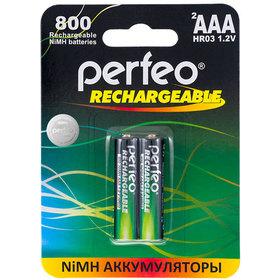 Фото Аккумулятор AAA Perfeo AAA800MAH-2BL, Ni-MH, 800 mAh, 1.2 V. Интернет-магазин Vseinet.ru Пенза