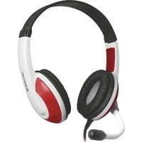Гарнитура Defender WARHEAD G-120 белый с красным. Интернет-магазин Vseinet.ru Пенза