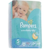 Подгузники Pampers Active Baby-dry, Junior 5 (11-18 кг), 16 шт.. Интернет-магазин Vseinet.ru Пенза