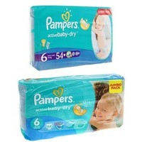 Подгузники Pampers Active Baby-dry, Extra Large 6 (15+ кг), 54 шт. Интернет-магазин Vseinet.ru Пенза