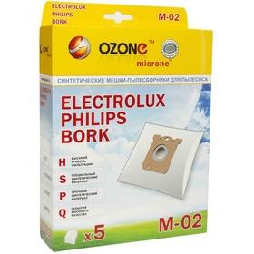 Пылесборники Ozone micron M-02 синтетические 5 шт.(S-bag)