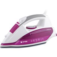 Утюг Vitek VT-1262 PK розовый с белым. Интернет-магазин Vseinet.ru Пенза