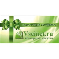 Подарочный сертификат Vseinet.ru на 4000 рублей. Интернет-магазин Vseinet.ru Пенза