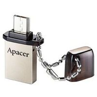 Флешка Apacer Flash AH175 8Гб, USB 2.0 + microUSB, серебристая. Интернет-магазин Vseinet.ru Пенза