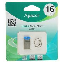 Флешка Apacer Flash AH111 16Гб,  USB 2.0, голубая. Интернет-магазин Vseinet.ru Пенза