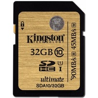 Карта Памяти 32Gb Kingston Ultimate SDHC Class 10 UHS-I (90/45 MB/s). Интернет-магазин Vseinet.ru Пенза