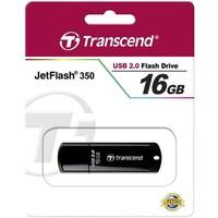 Флешка Transcend JetFlash 350 16Гб,  USB 2.0, черный (TS16GJF350). Интернет-магазин Vseinet.ru Пенза