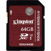 Карта Памяти 64Gb Kingston SDXC Class 10 UHS-I U3 (90/80 MB/s). Интернет-магазин Vseinet.ru Пенза