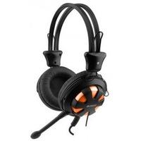 Гарнитура A4Tech HS-28 черный с оранжевым . Интернет-магазин Vseinet.ru Пенза
