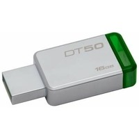 Флешка Kingston DT50 16Гб, USB 3.1, зеленая (DT50/16GB)
