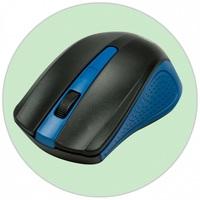 Мышь Ritmix RMW-555 беспроводная, USB, черный с синим. Интернет-магазин Vseinet.ru Пенза