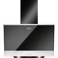 Вытяжка Hotpoint-Ariston HHVP 6.6F LM K наклонная черная черное стекло. Интернет-магазин Vseinet.ru Пенза