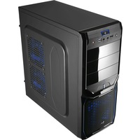 Корпус Aerocool V3X Advance Evil Blue Edition, ATX, 600Вт (VX-600), USB 3.0 , коннекторы 2x PCI-E (6+2-Pin), 4x SATA, 3x MOLEX, 1x 4+4-Pin. Интернет-магазин Vseinet.ru Пенза