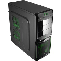 Корпус Aerocool V3X Advance Evil Green Edition, ATX, 600Вт (VX-600), USB 3.0 , коннекторы 2x PCI-E (6+2-Pin), 4x SATA, 3x MOLEX, 1x 4+4-Pin. Интернет-магазин Vseinet.ru Пенза