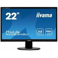 "Монитор Iiyama 21.5"" X2283HSU-B1DP черный TN+film LED 2ms 16:9 DVI HDMI M/M матовая 1000:1 250cd 170гр/160гр 1920x1080 D-Sub DisplayPort FHD USB 3кг. Интернет-магазин Vseinet.ru Пенза"