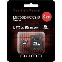 Карта памяти QUMO micro SDHC 4Гб, Class 10, адаптер SD. Интернет-магазин Vseinet.ru Пенза