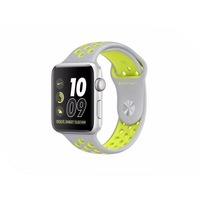 APPLE Watch Nike+ 38mm Silver Aluminium Case with Flat Silver-Volt Nike Sport Band MNYP2RU/A. Интернет-магазин Vseinet.ru Пенза