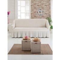 Чехол для мягкой мебели DO&CO DIVAN KILIFI на диван 3-х местный, цвет кремовый. Интернет-магазин Vseinet.ru Пенза