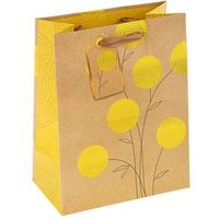"Пакет подарочный ""Желтые шары"" люкс, 23 х 17.8 х 9.8 см. Интернет-магазин Vseinet.ru Пенза"