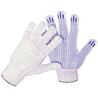 Перчатки трикотажные 10кл 5ти нитка ПВХ ТОЧКА (белый). Интернет-магазин Vseinet.ru Пенза