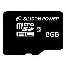 Карта памяти Silicon Power micro SDHC 8Гб, Class 10 (SP008GBSTH010V10)