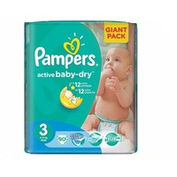 Pampers Active Baby-Dry Midi 5-9кг 90шт 4015400736226. Интернет-магазин Vseinet.ru Пенза