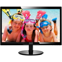 "Монитор Philips 24"" 246V5LSB/00(01) Black (LED, LCD, Wide, 1920x1080, 5 ms, 170°/160°, 250 cd/m, 20M:1, +DVI). Интернет-магазин Vseinet.ru Пенза"