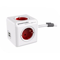 Allocacoc PowerCube Extended USB DE 1.5m Red 1402RD/DEEUPC. Интернет-магазин Vseinet.ru Пенза