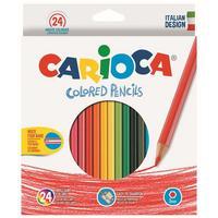 Фото Карандаши цветные Carioca HEXAGONAL 40381 шестигран. 24цв. коробка/европод.. Интернет-магазин Vseinet.ru Пенза
