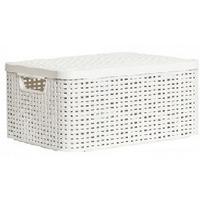 CURVER 03618-885 RATTAN STYLE BOX M корзина с крышкой кремовая. Интернет-магазин Vseinet.ru Пенза